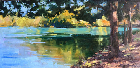 """Autumn Lake Shimmer"" by Donna Biggee"