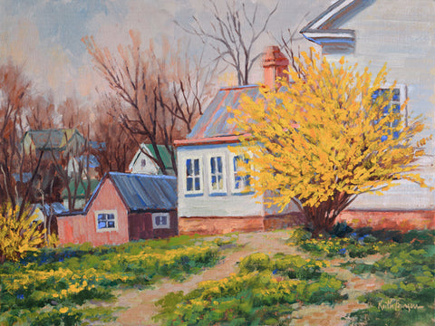 """Forsythia  Time"" by Keith Burgess"