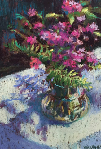 """Flowers and Shadows"" by Mary Ann Cox"