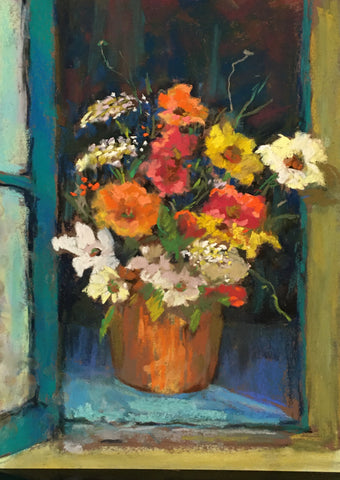 """Flowers in the Morning Light"" by Mary Ann Cox"