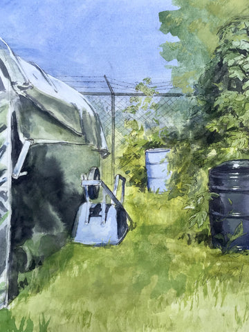 """""Behind the Greenhouse""  by Larkin Ford"