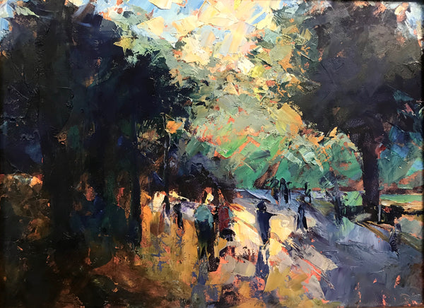 """A Walk in the Park at Sunset"" by Cynthia Rosen"