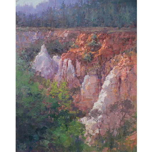 """Cliffs at Providence Canyon"" "" by John Guernsey"
