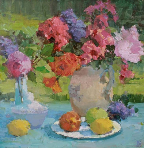"""Roses and Fruit"" by John Guernsey"