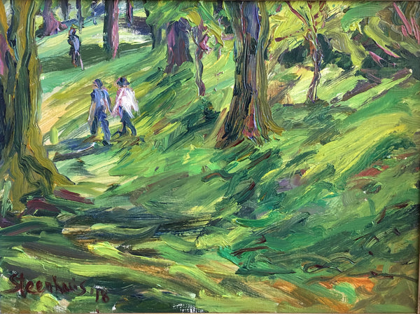 """Strolling in the Park"" by Jill Steenhuis"