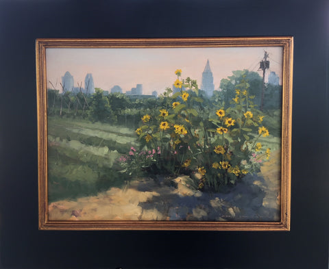 """Sunflower and Skyline by Jill McGannon"