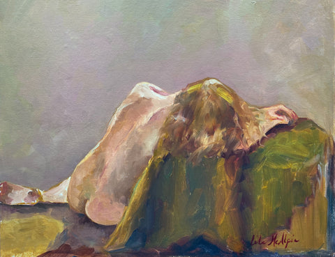 """Back of Woman Resting"" by Lila McAlpin"