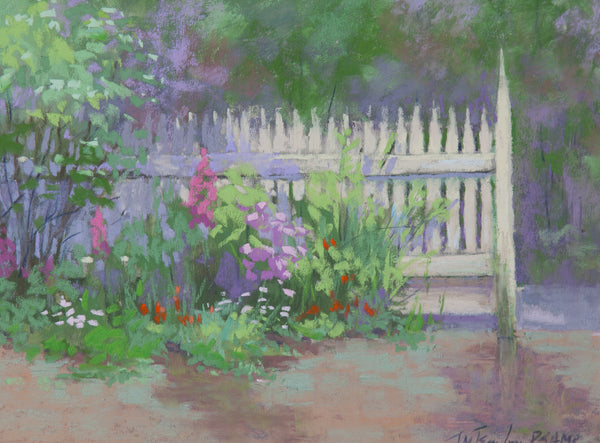 """Smith Farm Garden / Rain!"" by Jane McGraw Teubner"