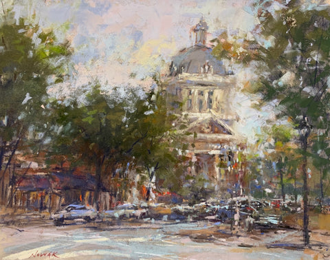 """Down by the Courthouse"" by Nancy Nowak"