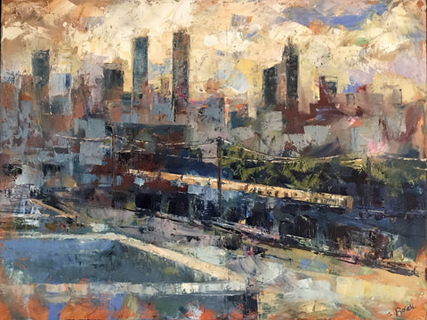 """As the Sun Sets Over Atlanta"" by Cynthia Rosen"