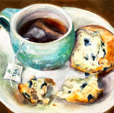 """Tea and Muffin"" by Lynne Tompkins Brice"