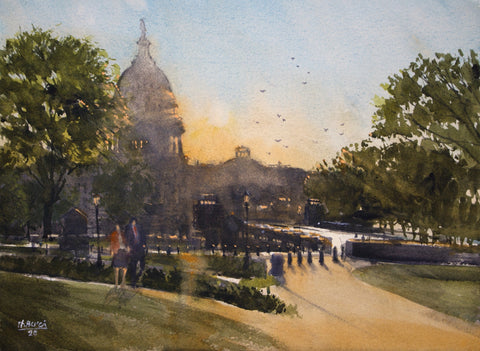 """Capitol Evening""  by Thomas Bucci"
