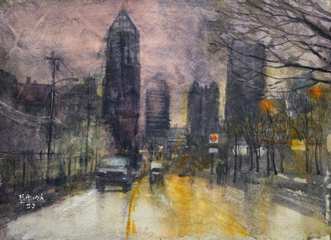 """North Ave, Atlanta Evening"" by Thomas Bucci"