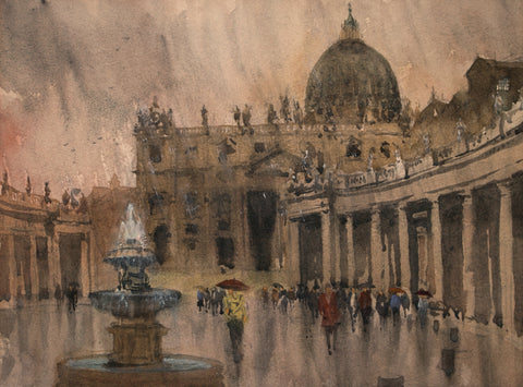 """Vatican Rain""  by Thomas Bucci"