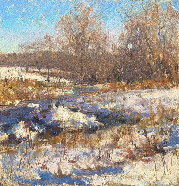 """Snow on the River"" by Palden Hamilton"