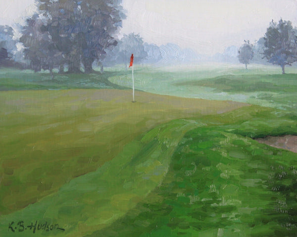 """Fog on the Course""  by Kathleen Hudson"
