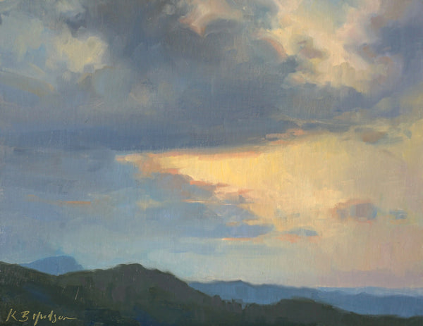 """Storm Over the Blue Ridge Mountains""  by Kathleen Hudson"