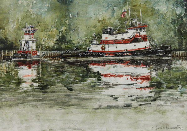 """Red Tugs, Michigan"" by Mat Barber Kennedy"