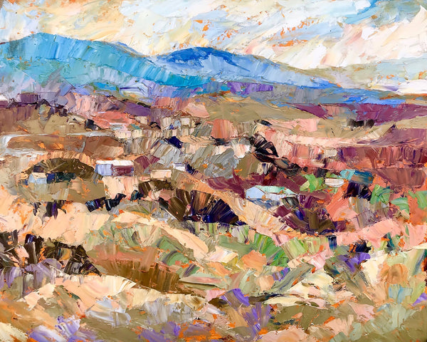 """The Hills of Santa Fe""  by Cynthia Rosen"