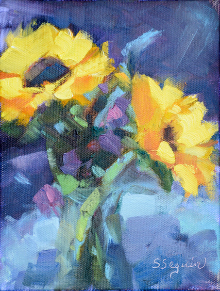 """Double Sunflowers"" by Shirley Seguin"