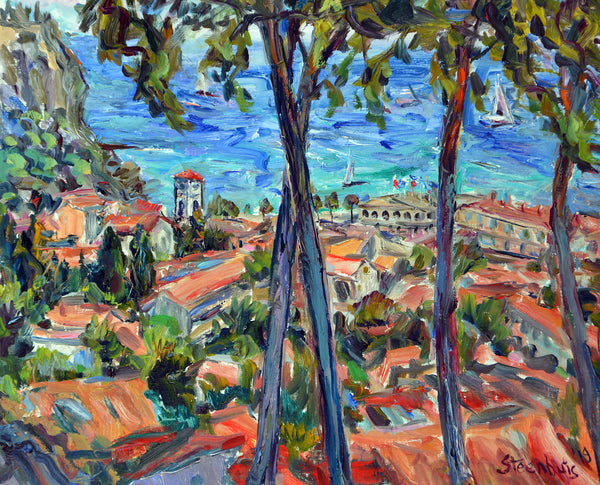 """Cassis and the Mediterranean"" by Jill Steenhuis"