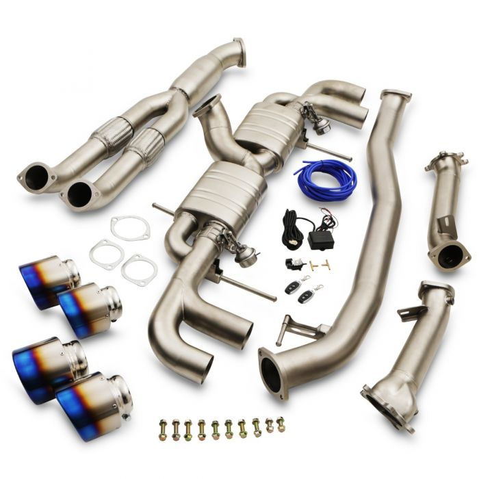 "Japspeed Nissan R35 GTR 3.5"" Turbo Back Decat Valvetronic Exhaust System With Titanium Tailpipes - TDi North"
