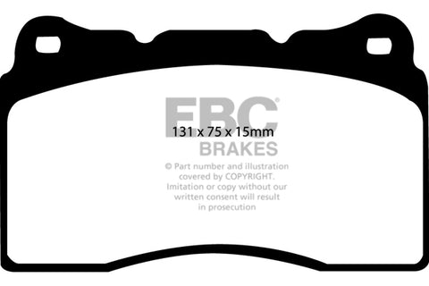 HONDA CIVIC FK8 - EBC Racing RP-1™ Track And Race Brake Pads To Fit Front
