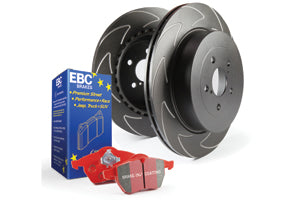 EBC BRAKES REDSTUFF PADS AND SLOTTED DISC KIT TO FIT FRONT - MAZDA 3 MPS
