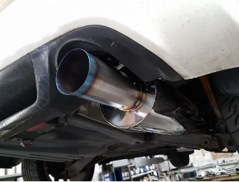 "SOLID FABRICATIONS - HONDA FD2 TYPE R 3"" SUPER SILENT CAT BACK EXHAUST W/TITANIUM 4"" TIP"