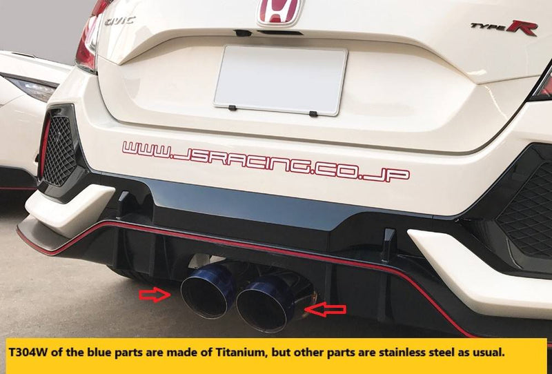 J's Racing SUS Exhaust System- Honda Civic Type-R FK8 - TDi North