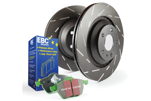 EBC GREENSTUFF PADS AND DISC KIT TO FIT REAR - MAZDA 3 MPS