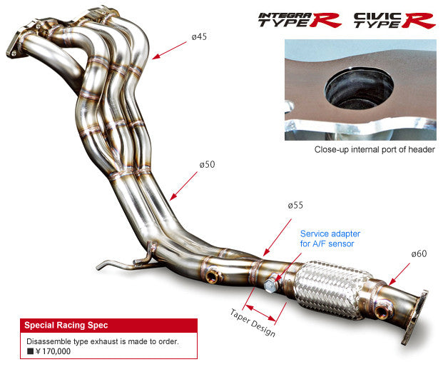 Toda Racing 4-2-1 Exhaust manifold - EP3