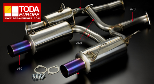 Toda Racing Exhaust System - S2000 (70mm) - TDi North