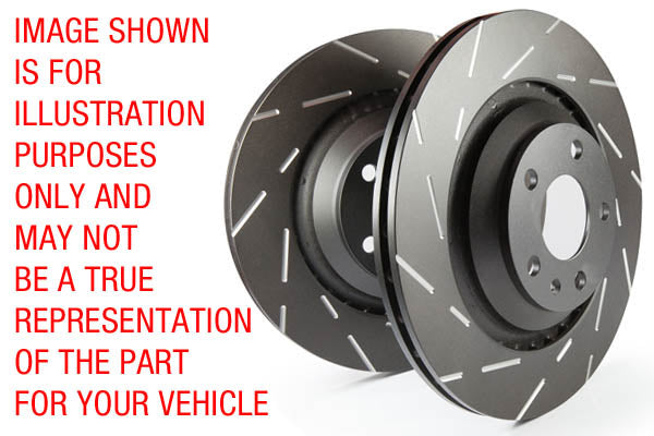 EBC USR Series Fine Slotted Discs (Pair) To Fit Rear (EP3) - TDi North