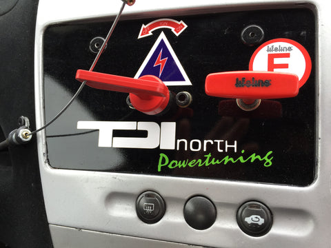 TDI NORTH STICKER x2