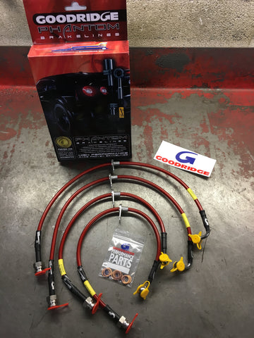 GOODRIDGE STAINLESS STEEL BRAIDED BRAKE LINE PHANTOM KIT - HONDA - TDi North