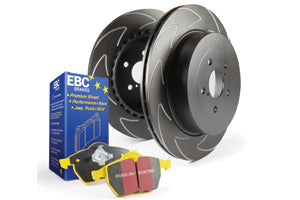EBC YELLOWSTUFF BRAKE PADS AND BI-DIRECTIONAL DISCS KIT TO FIT REAR - TDi North