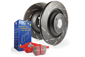 EBC REDSTUFF BRAKE PADS AND SLOTTED DISCS KIT TO FIT REAR