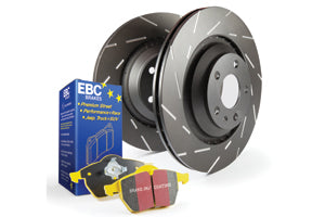 EBC BRAKES YELLOW PADS AND SLOTTED DISC KIT TO FIT FRONT - MAZDA 3 MPS