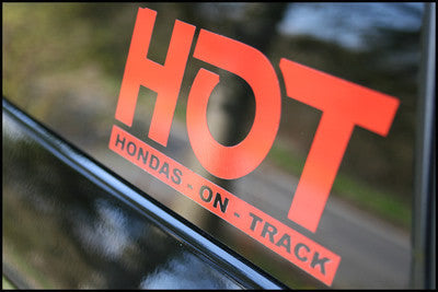 HONDAS ON TRACK - HOT LOGO (149MM x 64MM)