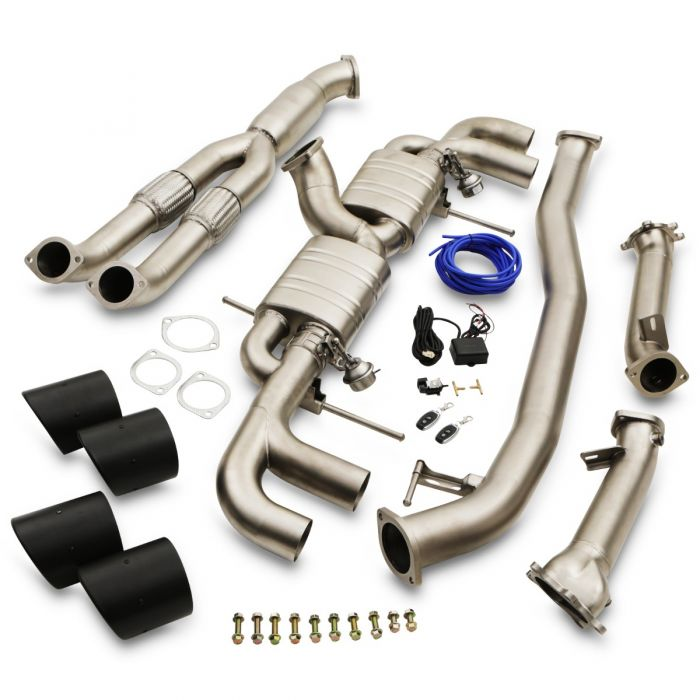 "Japspeed Nissan R35 GTR 3.5"" Turbo Back Decat Valvetronic Exhaust System With Carbon Tailpipes - TDi North"