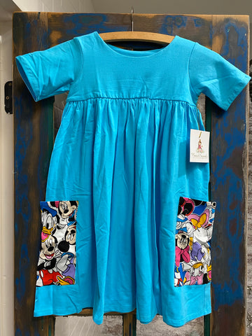 Mickey and friends Polly Pocket dress sizes 8/10/12/14 only
