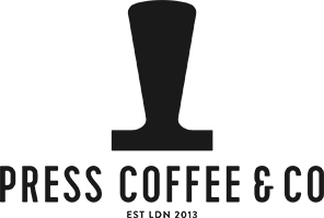 Press Coffee and co logo, speciality coffee roastery and independent specialty coffee shops cafes in london