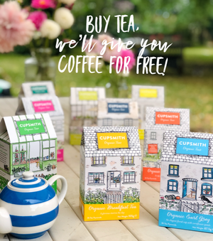 Buy tea, we'll give you coffee for free!