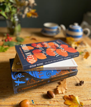 Books on our kitchen table this Autumn