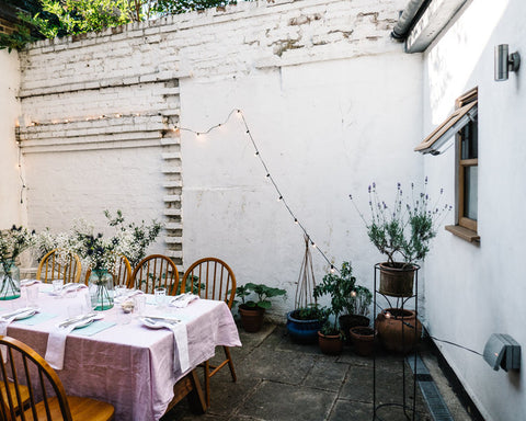 Alexandra hosts small supper clubs in her back garden