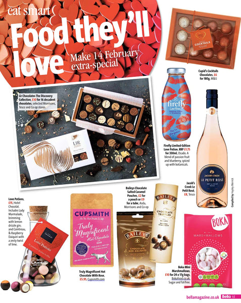 Cupsmith hot chocolate in Bella magazine