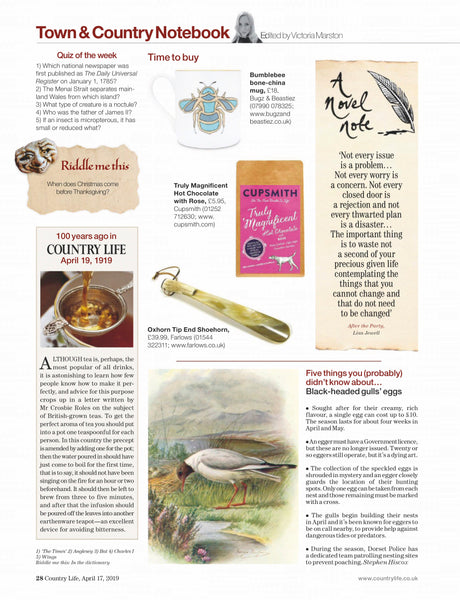 Cupsmith in Country Life magazine