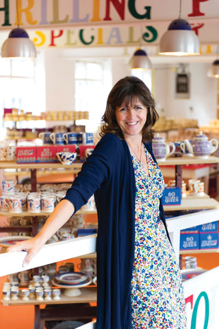 Emma Bridgewater in her factory shop