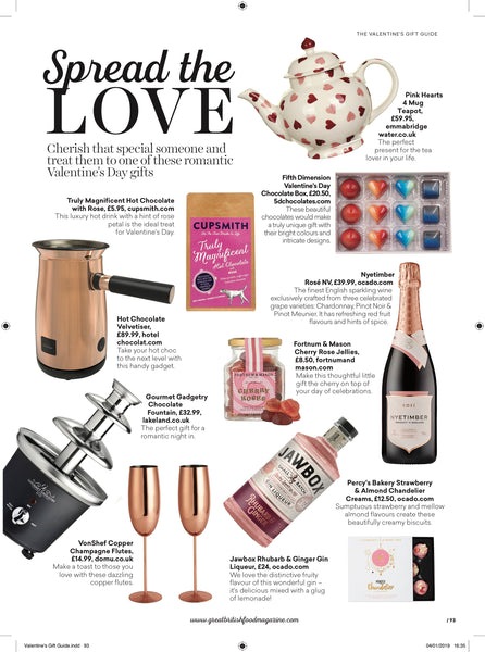 Cupsmith hot chocolate in Great British Food Magazine